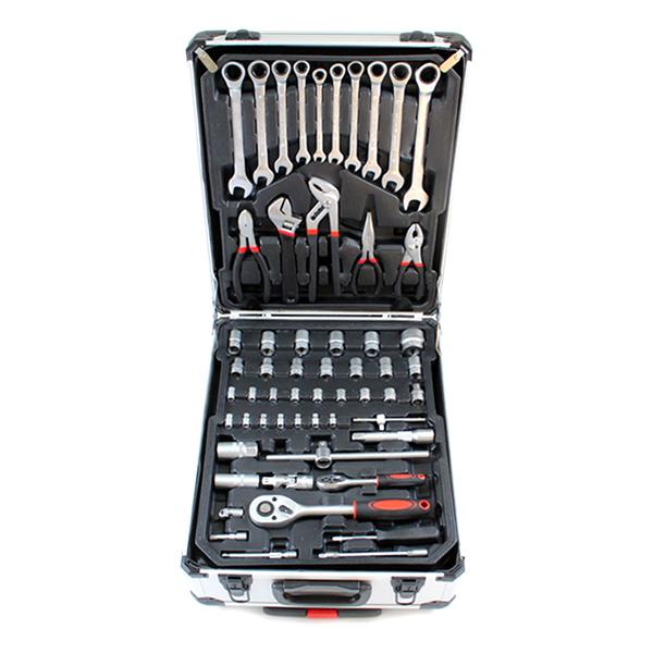 Caisse a outils avec cles a cliquet chrome vanadium 4