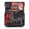 Caisse a outils avec cles a cliquet chrome vanadium 8